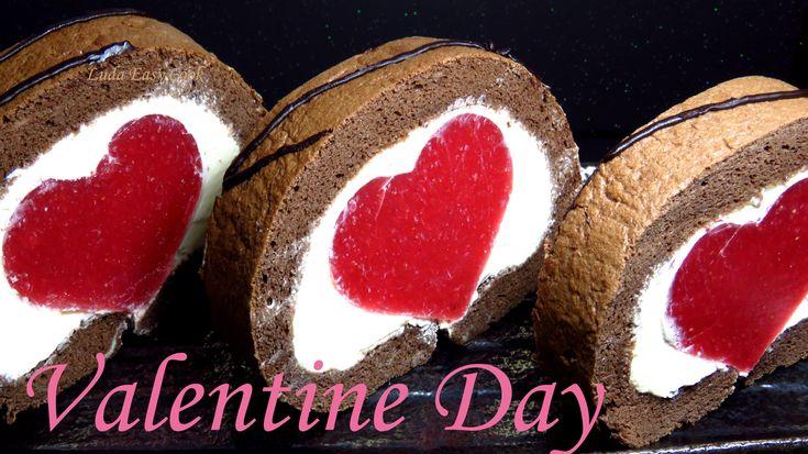 Бисквитный рулет «Сердце» к Дню всех влюбленных [LudaEasyCook]