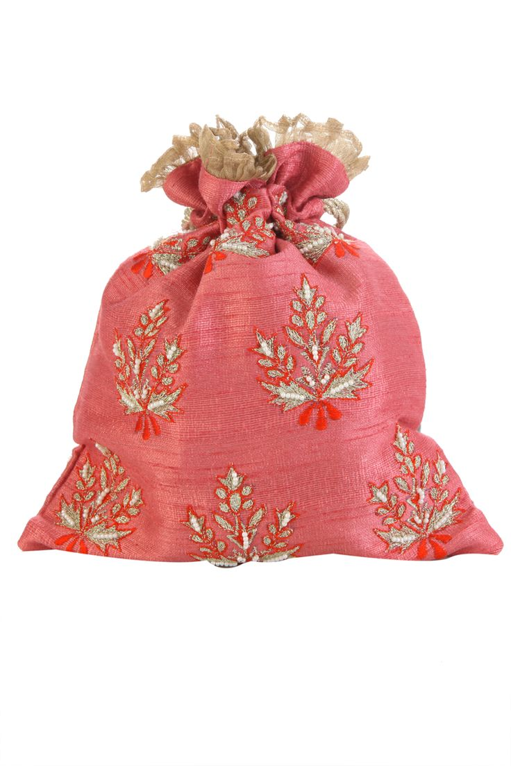 Tarusa World | Ambrosia Pink Potli Bag | SCARLETBINDI.COM