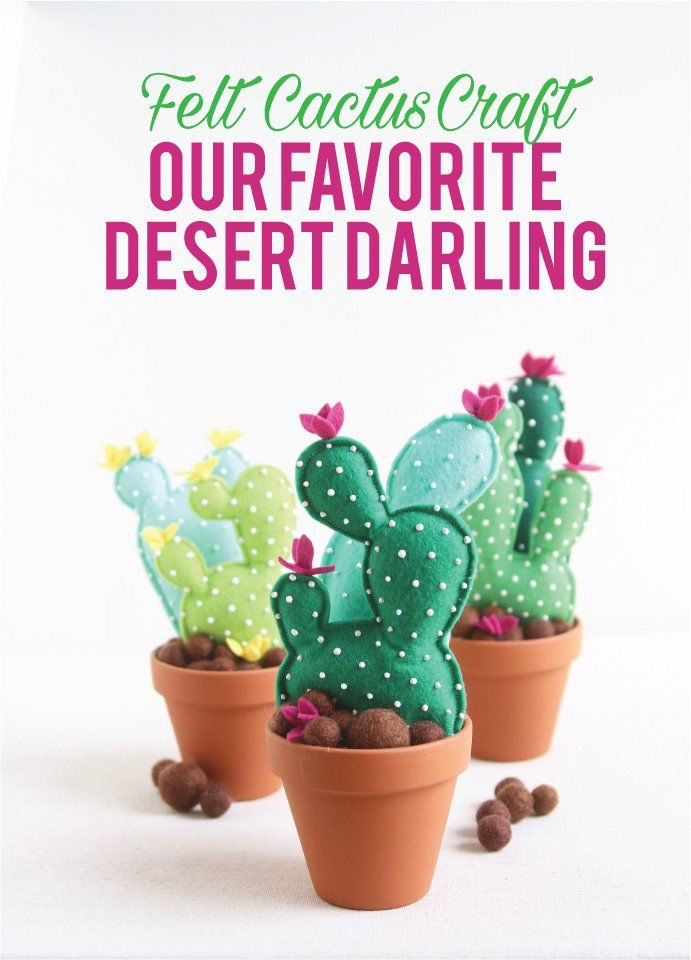 Our favorite desert darling — the cactus! Craft your own prickly plants with our handy diy below!  Grab your materials: Cactus Pattern Wool Felt -Our Cactus Pal
