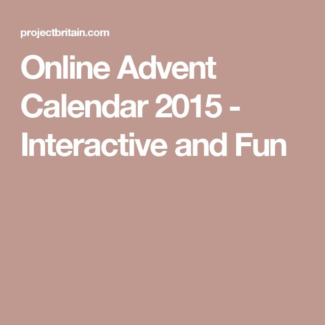 Online Advent Calendar 2015 - Interactive and Fun