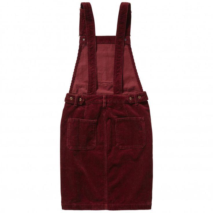 VESTIDO PICHI DE PANA GRANATE 'SHIRLEY'   Mujer   Pepe Jeans London   Pepe Jeans London
