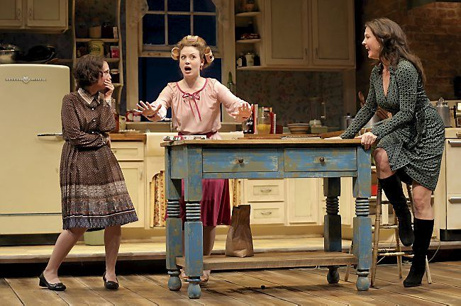 """Maggie Chestovich is Lenny Magrath, left, Ashley Rose Montondo is Babe Botrelle, and Georgia Cohen is Meg Magrath in """"Crimes of the Hea..."""