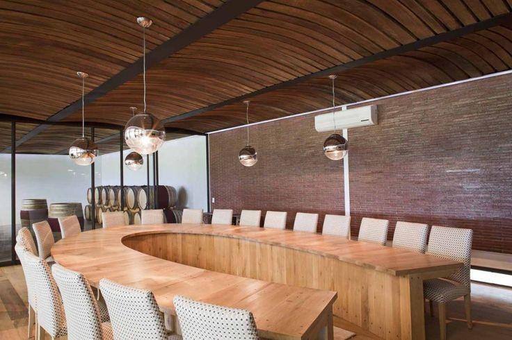 Pierre Cronje custom designed this wine tasting table for Leopards Leap Vineyards / Makeka Design Lab