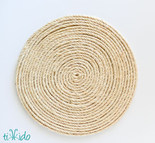How to make a nautical rope charger, just like the ones you see at Pottery Barn and other high end home stores, for just a few dollars.