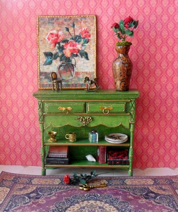 Dollhouse furniture. table. Scale 1:12 от OlgaDollhouseArt на Etsy