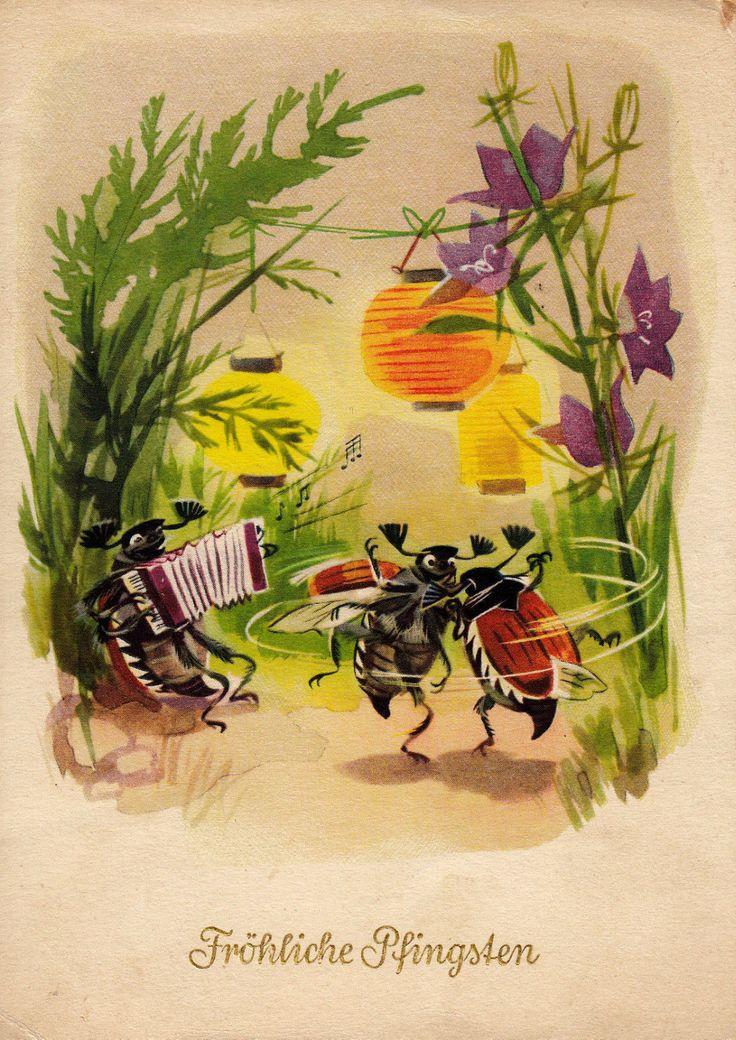 открытка с жуками когда слов хватает