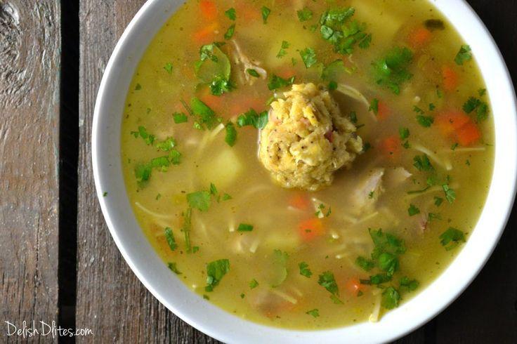 Caldo De Pollo Con Mofongo (Puerto Rican Chicken Soup)