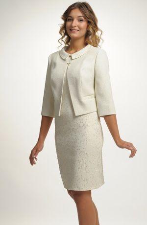 a557db784 Pouzdrové šaty s kabátkem | oblečení | Šaty, Oblečení, Pouzdra