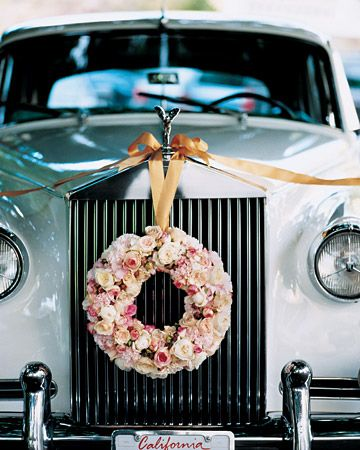 Nice vintage ride for the bride and groom to and from the wedding