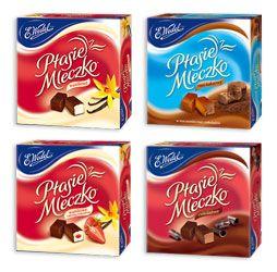 Differend kinds of Polish 'ptasie mleczko'
