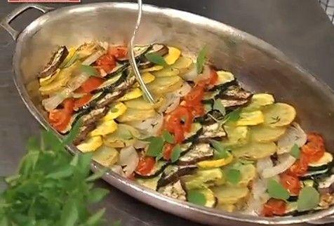 パリにある高級レストラン「Lasserre」のシェフのレシピ プロバンス風 野菜の重ね焼き