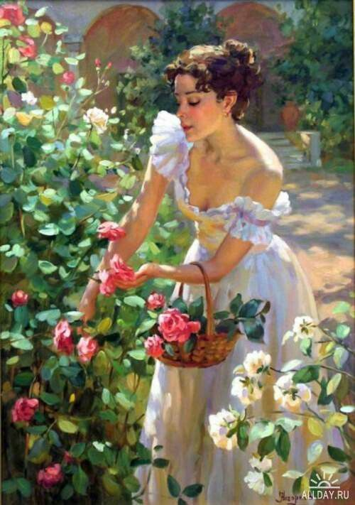 Flower Garden Paintings 65 best art - women in the flower garden images on pinterest