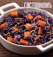Теплый зимний салат с пряной заправкой. Пошаговый рецепт с фото на Gastronom.ru