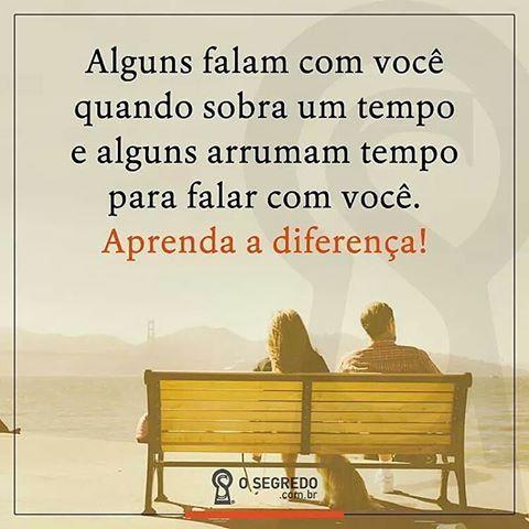 Aprender as diferenças...