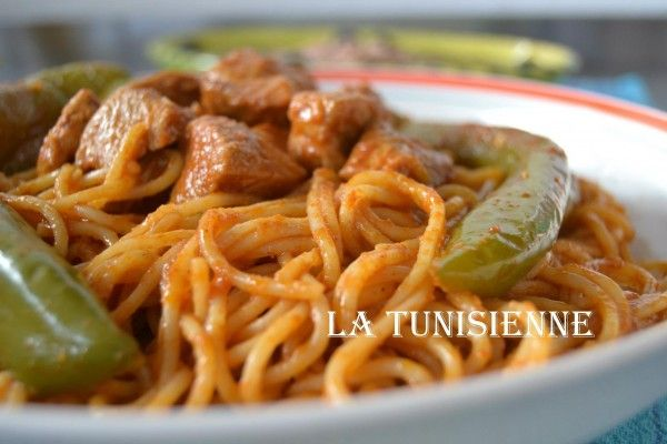 Spaghetti à la tunisienne | La Tunisienne
