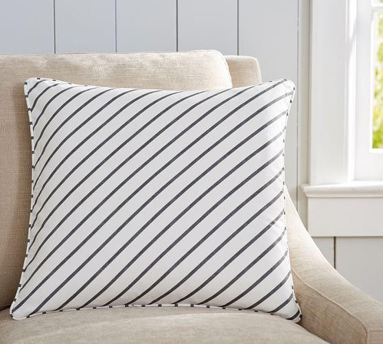 beckett diagonal stripe pillow cover pottery barn outdoor throw