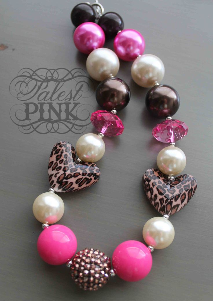 Leopard Love little girls chunky necklace.