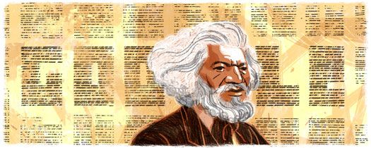 Frederick Douglass' Google Doodle Blowout On February 1, Google dropped their Doodle to commemorate Black History Month. We did not know what was to come in these 29 days, but we shoulda known it was a special one. An animated Frederick Douglass was featured on Google's homepage, welcoming us into February with a blowout that was so legit, I was almost jealous I no longer had an afro. My man Frederick rocked the most righteous coiffure and we had to start the month by paying homage to that.