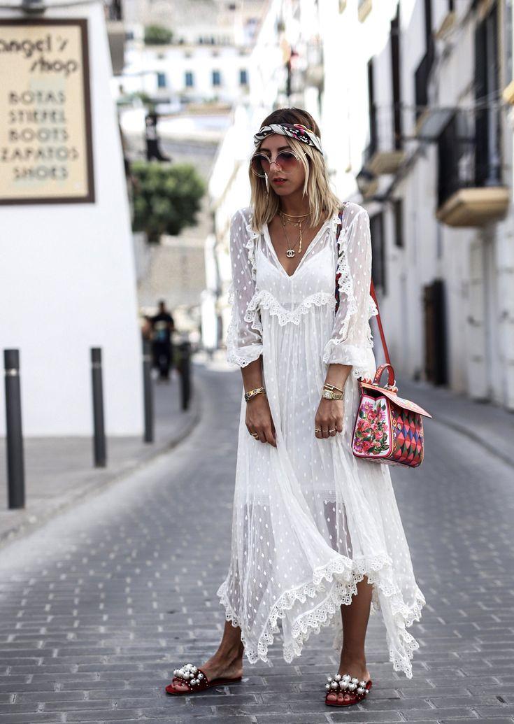 weißes kleid ibiza style - abendkleid ideen | damenmode