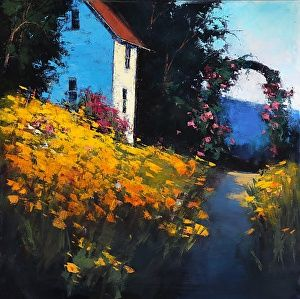 Country Garden Path by Romona Youngquist ~ 40 x 40