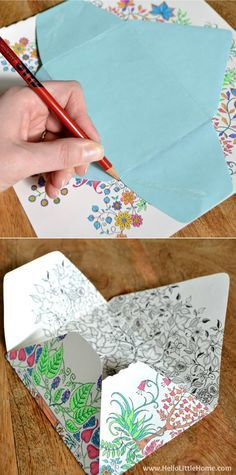 1202 best images about printable coloring pages on for Easy paper crafts for adults