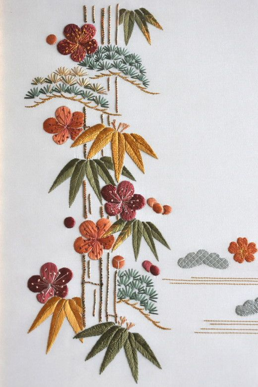 Phase 1 - Andrée Domeyne. Broderie japonaise.