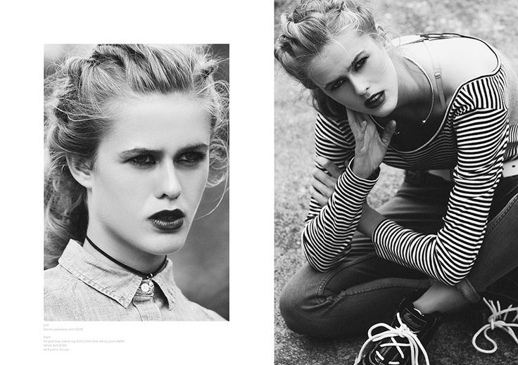 Black and white editorial portrait laces dark lipstick moody witchy