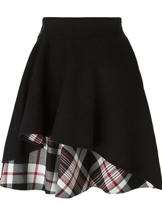 ruffled A-line skirt