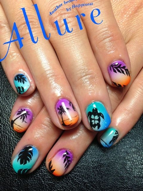 Nail Design Department of Nara .. Yagi Nail Salon Allure Nail ... | image of the resort nail