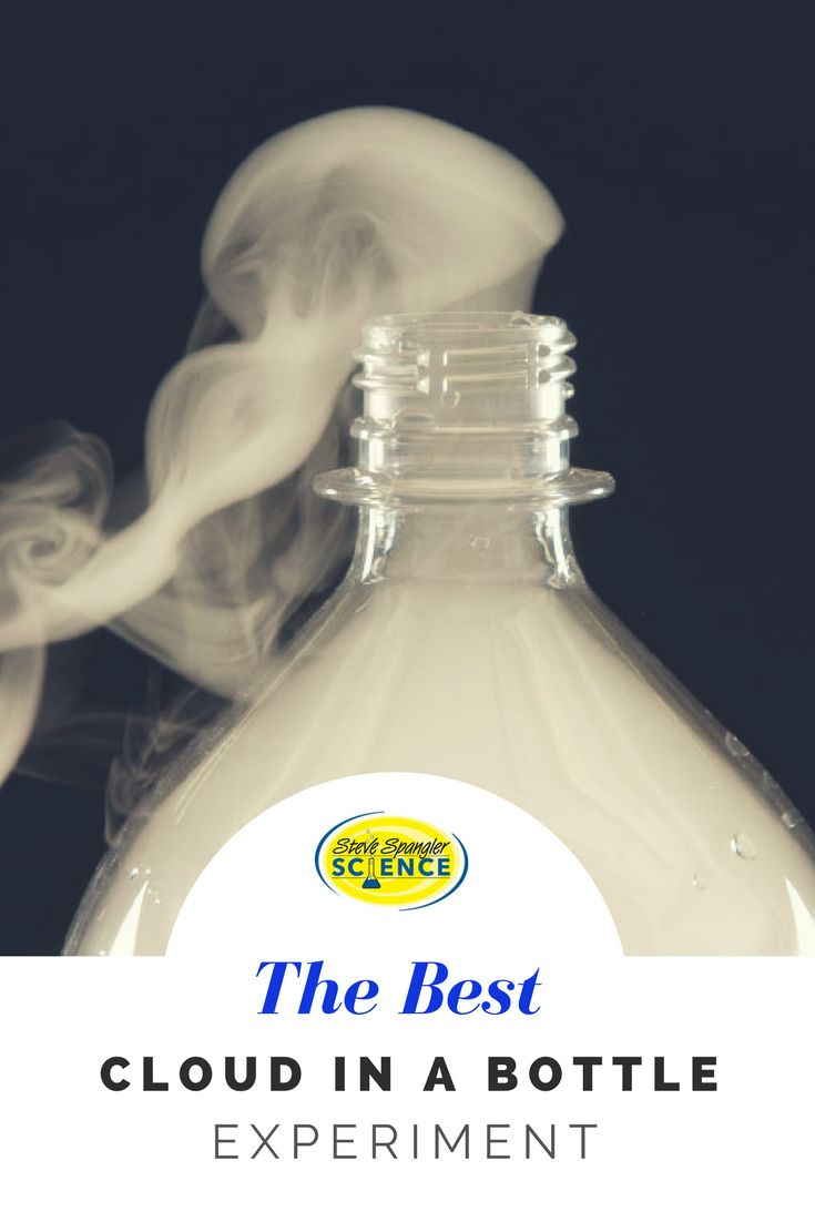 Making a cloud inside a bottle may help you figure out how they form outside in the sky. The cloud in a bottle science experiment is great for learning about weather!