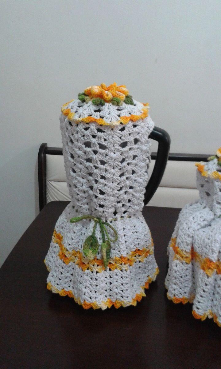 Capa para liquidificador em croche confeccionada em barabante, fazemos na cor que desejar.