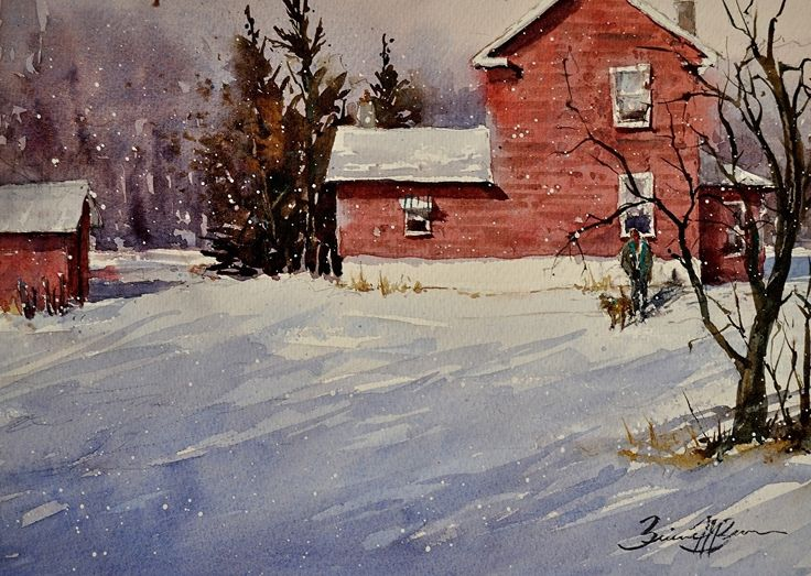 Brienne Brown - Jack Straw House- Watercolor - Painting entry - January 2015 | BoldBrush Painting Competition