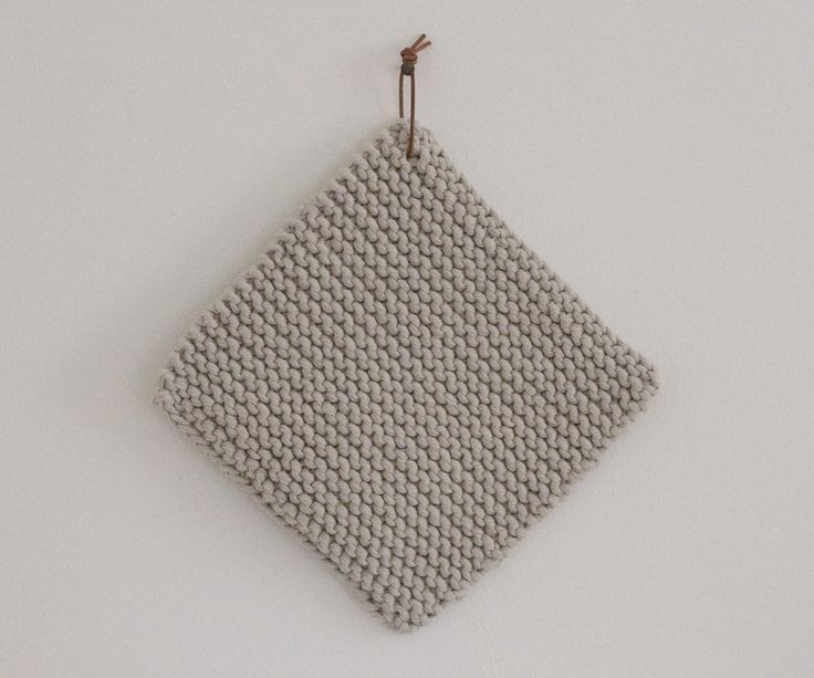 Knitted potholder by værsgo