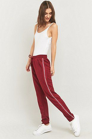 Light Before Dark Maroon Joggers - Urban Outfitters