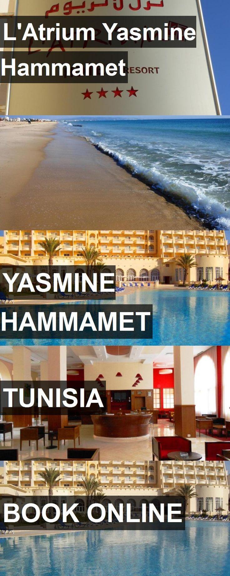 Hotel L'Atrium Yasmine Hammamet in Yasmine Hammamet, Tunisia. For more information, photos, reviews and best prices please follow the link. #Tunisia #YasmineHammamet #travel #vacation #hotel