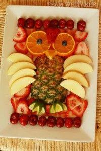 owl made of fruit!