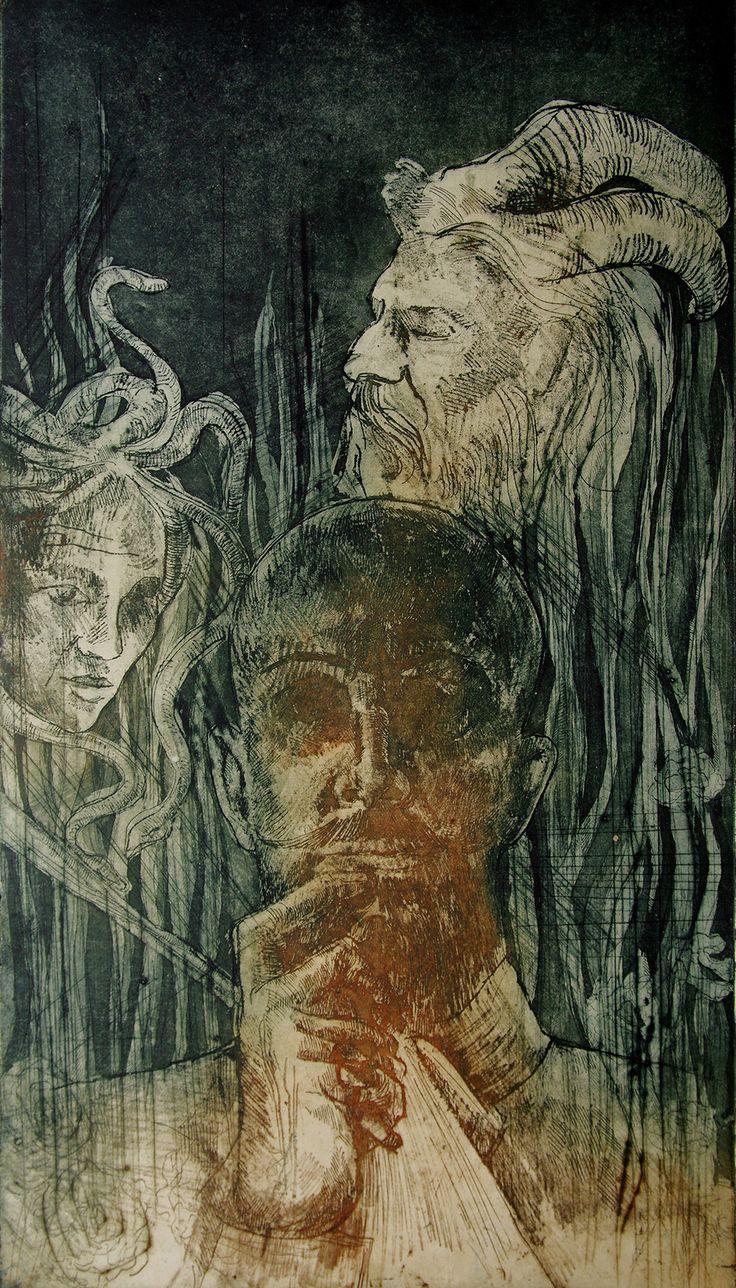Variations about Jacek Malczewski , Jagoda Cerkiewnik on ArtStation at https://www.artstation.com/artwork/9RxgW
