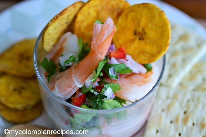 Ceviche de Camarón con Coco (Coconut Shrimp Ceviche) From:  mycolombianrecipes.com   via Erica