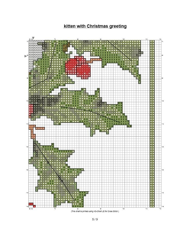 http://scout901.hubpages.com/hub/Christmas-cross-stitch-Kitten-with-Holly
