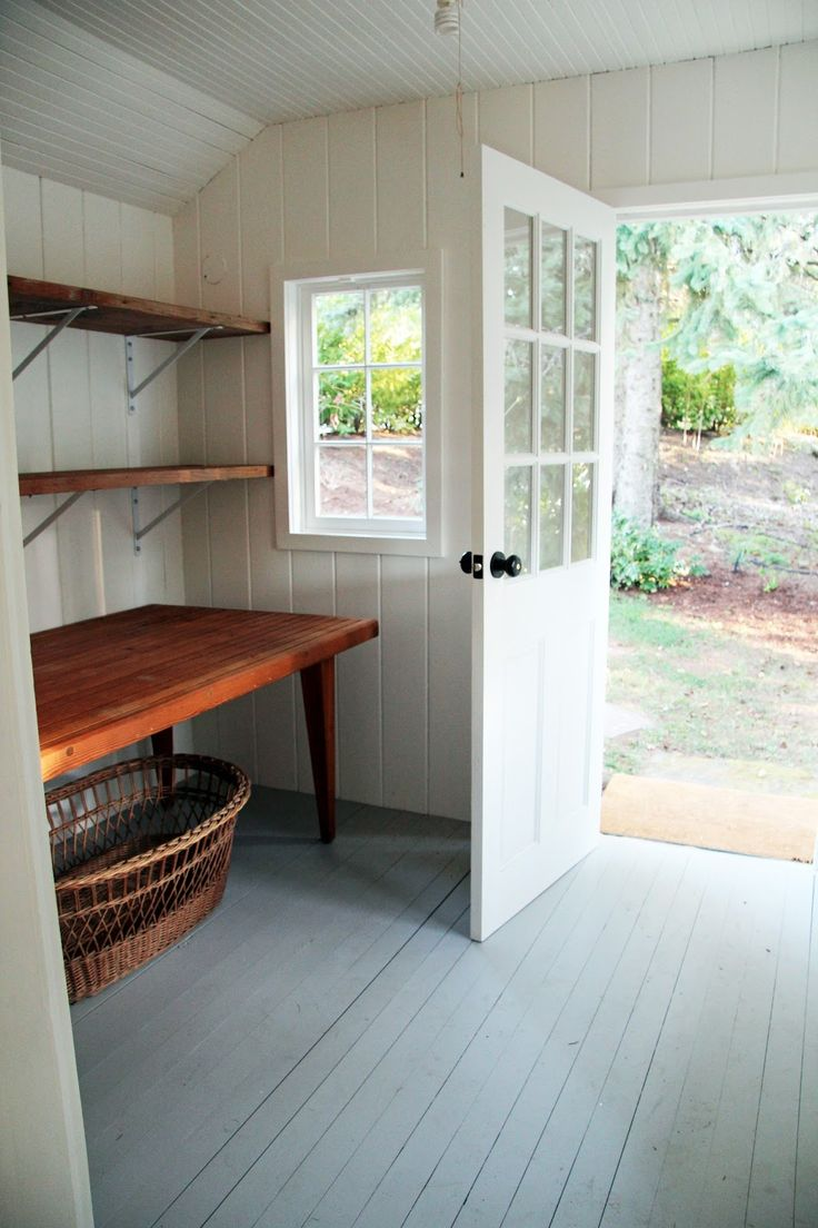 A Country Farmhouse - garden outbuilding storeroom