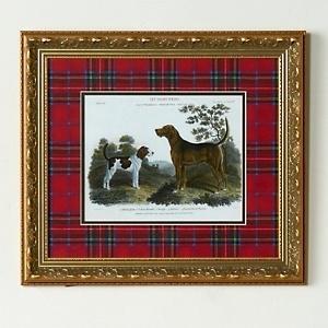 Jeffrey Banks Hunting Dogs Framed Giclée Print with Royal Stewart Tartan Mat at HSN.com
