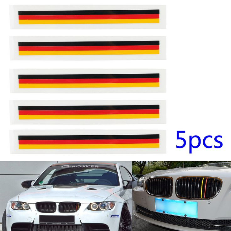 Mad Hornets - 5 PCS Front Grill Grille Lining Strips Sticker Decal German Flag BMW, $13.99 (http://www.madhornets.com/5-pcs-front-grill-grille-lining-strips-sticker-decal-german-flag-bmw/)