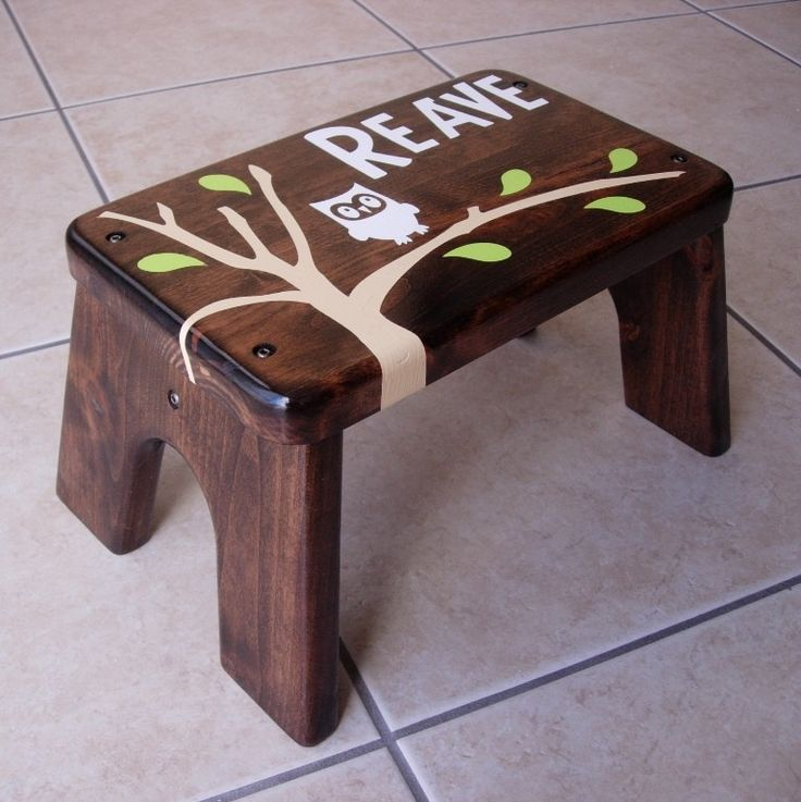Toddler Step Stool With Name Woodworking Projects Amp Plans