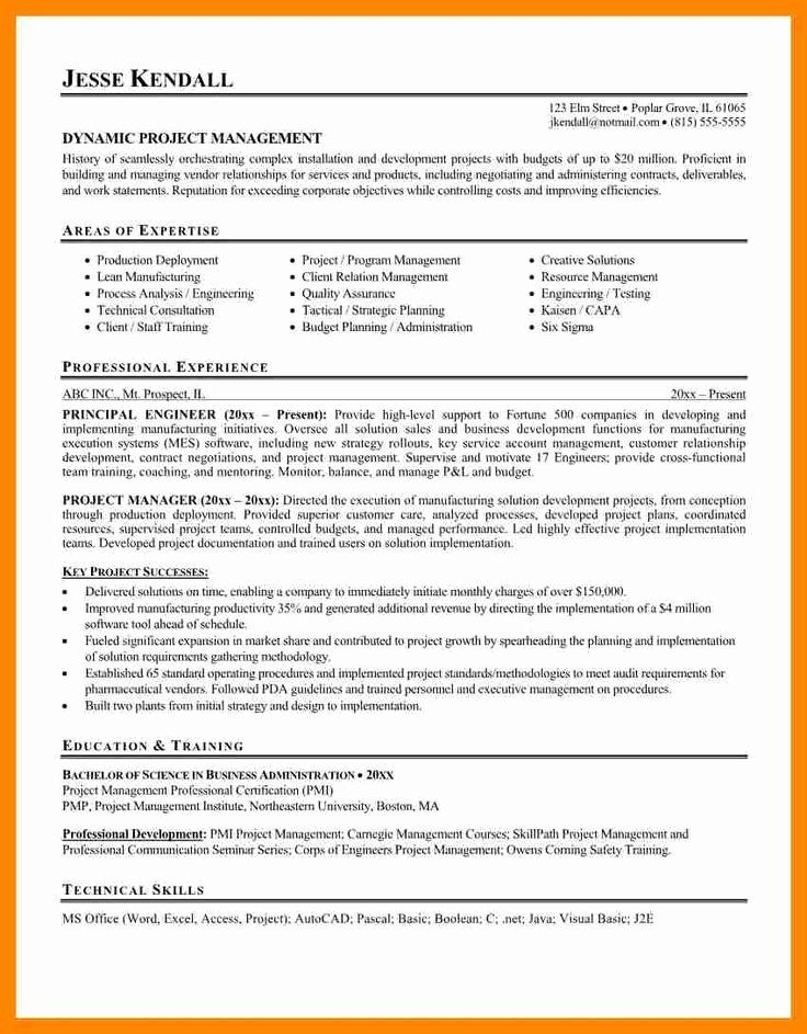 Resume Projects Section Example Inspirational Best 25 Project Manager Resume Ideas On Pinterest Project Manager Resume Job Resume Examples Manager Resume