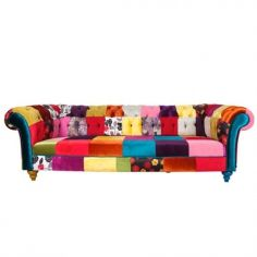 Patchwork Chesterfield Kanepe