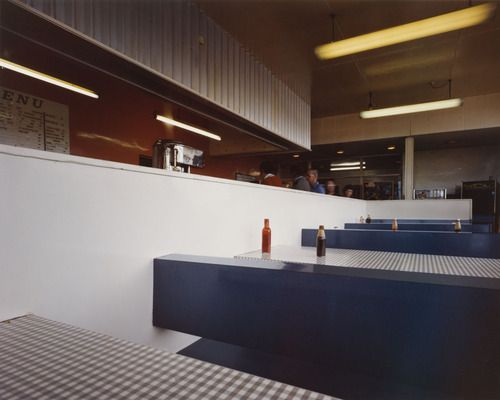 "Interior, Blyth Services, Blyth, Nottinghamshire from the portfolio A1: The Great North Road, June 1981. Chromogenic color print, 7 11/16 x 9 9/16"" (19.5 x 24.3 cm). Committee on Photography Fund. © 2012 Paul Graham"