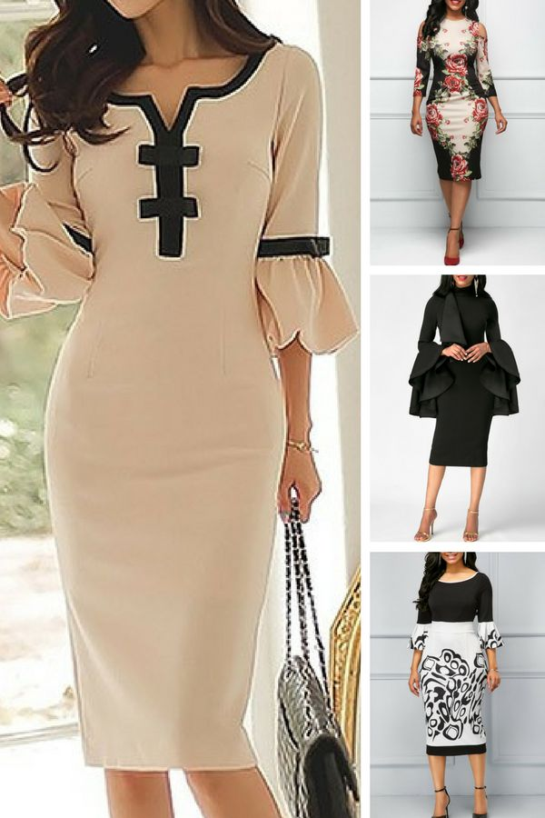 bodycon dresses, sheath dresses, bodycon midi dress, printed dress   #liligal #dresses #womenswear #womensfashion