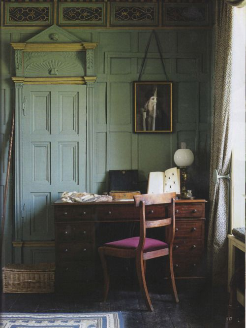From: The World of Interiors, Sept. 2009. Charles Darwin's rooms @ Christ's College, Cambridge.