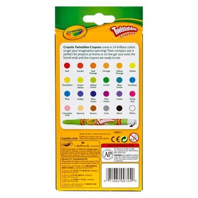 Crayola Twistable Crayons Mini 24ct,
