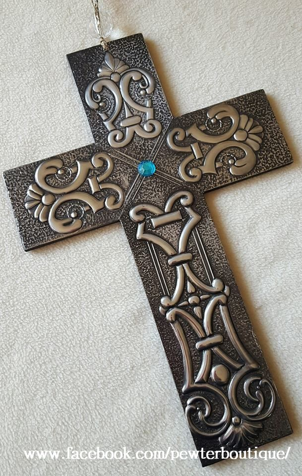 Commissioned Pewter Cross.